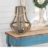 Lanterna di legno decorativa della candela di uragano dell'annata