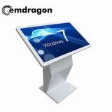 Der 42 Zoll-Fußboden, der den LCD-Touch Screen bekanntmacht Bildschirmanzeige-Kiosk mit Rad-Bildschirmanzeige-SelbstSercice Kiosk steht, leuchtete das Bekanntmachen der Vorstand-Digitalsignage-Bildschirmanzeige
