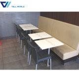 Corianアクリルの豪華なStarbucksのコーヒーテーブルおよび椅子のファースト・フードのレストランのチェアーテーブル