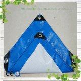 Blauer/orange Plastikplane-Deckel-wasserdichter Plastikdach-Deckel