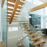 단청 세로 침목을%s 가진 고품질 오스트레일리아 형식 강철 나무 계단에 의하여 사용되는 똑바른 층계