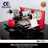 De machine de collant de vinyle de découpage d'étiquette de roulis demi
