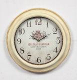 Casa de antigüedades arte decorativo de la pared de metal redondo reloj para Salón