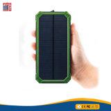 o USB duplo da bateria de 18650 Li move o banco portátil da potência do carregador 10000mAh do painel solar de fonte de alimentação do telefone móvel com Ce RoHS