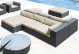 Jeux extérieurs de meubles de rotin de patio et de sofa de jardin