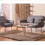 O sofá de Seater da base 2 do aço inoxidável com tela estofou