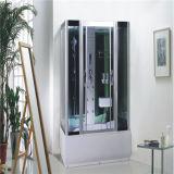 Cor cinza de tamanho grande banheira com chuveiro para venda Fabricante