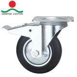 """회전대 유럽 유형 산업 8개의 """" 고무 피마자 바퀴"""