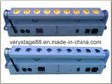 9X18W RGBWA+UV Wand-Unterlegscheibe-Stab-Licht der drahtlosen Batterie-Mini-LED