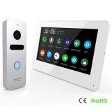 Écran tactile de mémoire 7 pouces de garantie à la maison de porte d'intercom visuel de téléphone