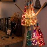 Indicatori luminosi della bottiglia della stringa del collegare di rame con sughero 3m 10 LED per gli indicatori luminosi di DIY, del partito, della decorazione, di natale, di Halloween, di cerimonia nuziale o di umore