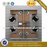 4 sièges forme de L'Office de station de travail du personnel de cluster de partition (HX-8N2638)