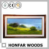 Pintura moderna de la decoración del paisaje con el marco de madera