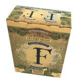 Kundenspezifischer gedruckter Karton-Flaschen-Kasten für das zwei Wein-Verpacken
