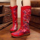 Dame-beiläufige Form bereift Fußbekleidung gestickte Aufladungen