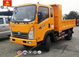 Extened 오두막 빛 덤프 트럭을 기울이는 중국 Cdw 5ton 정면