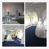Без бретелек платье венчания выпускного вечера шнурка Applique