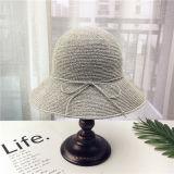 Mode de gros de l'été Custom Cap chapeau de paille de promotion de haute qualité avec Bow