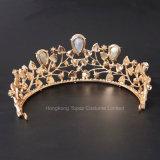 Coronas de novia de cristal azul nupcial Headpiece Tiara nupcial de boda accesorios para el pelo diadema