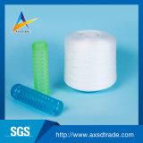 縫う糸(プラスチック管)のための未加工白100%回されたポリエステルヤーン
