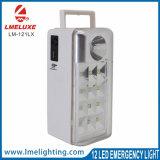 Luz de emergência recarregável portátil com função de carregamento de telemóvel