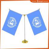 事務机のフラグカスタムプリントポリエステル机表の国旗