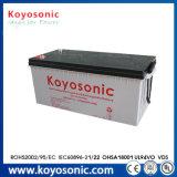 Batterie de gel de la longue vie 12V 200ah pour le système d'alimentation solaire