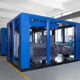 De meertalige LCD Compressor In twee stadia van de Lucht van de Schroef van de Smering Dubbele