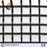 fibre de verre enduite Geogrid du bitume 100kn pour le renfort de trottoir d'asphalte