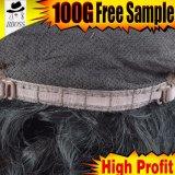 Pleines perruques de lacet des cheveux humains indiens traités par 100%