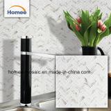 白いチップサイズ23X73mmのエクスポートのタイルのモザイクヘリンボンガラスモザイク