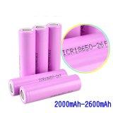 Nachladbare Lithium-Ionenbatterie 3.7V 2000mAh 2200mAh 2600mAh mit BIS-Bescheinigung
