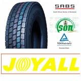 12r22.5 Joyall 상표 광선 강철 18pr 드라이브 위치 트럭 타이어