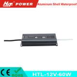 fonte de alimentação Htl do interruptor do transformador AC/DC do diodo emissor de luz de 12V 5A 60W
