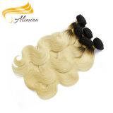 Kundenspezifisches Farben-Menschenhaar-Jungfrau Ombre Haar annehmen