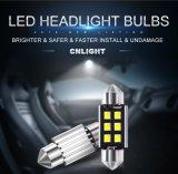 Luz de señal de la fuente de luz de blanco de las bombillas del coche de Cnlight DC12-24V 2W LED T10