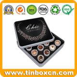 quadratisches Schokoladen-Zinn der Frucht-140g für Metallnahrungsmittelablagekasten