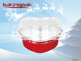 Enveloppe en aluminium à extrémité élevé en forme de coeur de gâteau de traitement au four pour Noël et le mariage