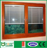 나무로 되는 곡물 알루미늄 여닫이 창 Windows