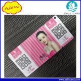 O PVC Agarra-fora cartões combinados de Keychain com impressão do código de barras