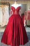 Os vestidos de casamento vermelhos do partido atam A - linha vestidos Z1065 de Eevning do baile de finalistas