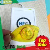 De doorzichtige zeilboot Keychain van identiteitskaart T5577 RFID van de Nabijheid 125kHz keyfob