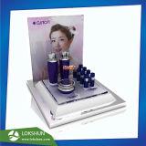 Оптовая торговля L-подставка акриловый духи подставка для дисплея, POS акриловый косметический отображения на дисплее счетчика производитель Китай