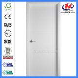 Glatte Platte-weiße festes Holz-Tür der runden Oberseite-2-Panel