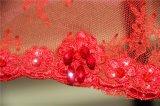 Красный шар кружевом длинной втулки короткие мини-ППЗУ Openboot вечерние платья