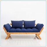 Sofa pliable nordique simple moderne en bois solide de Japonais-Type