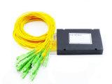 Оптоволоконный PLC 1X16 пластиковые окна разветвитель для проводных и беспроводных сетей и приложений, систем видеонаблюдения