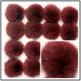 Pompom multicolore della pelliccia di Keychain del Faux della pelliccia della sfera superiore del Pompom