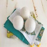 Handgemachte weiße Wäscherei-Kugel-Gewebe-Weichmachungsmittel-Wolle-Trockner-Kugel