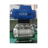 Valvola a sfera elettrica di controllo di SS304 3PC 4-20mh Q911f